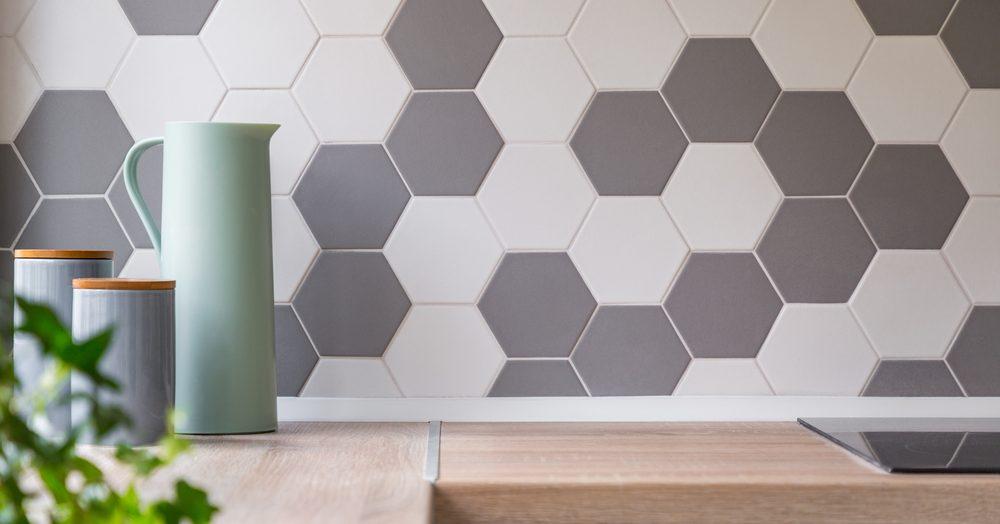 De l'originalité avec un carrelage hexagonal