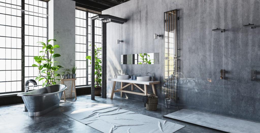 Quel carrelage pour une salle de bain de style industriel