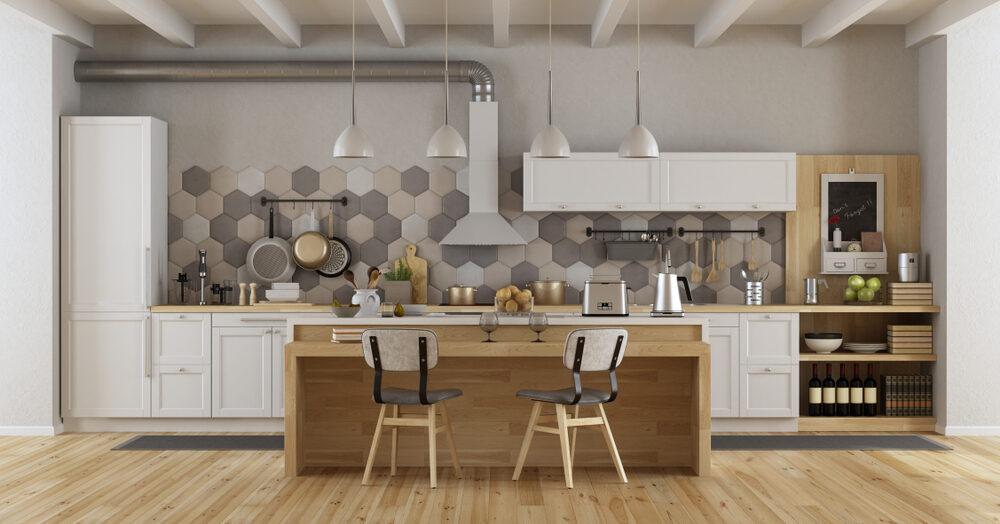 Donnez du pep à votre cuisine avec un mur carrelé